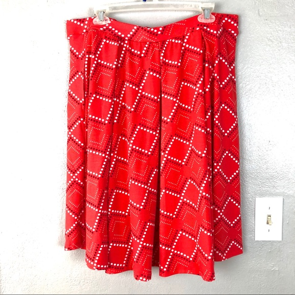 LuLaRoe Orange Polka Dot Diamond Madison Skirt